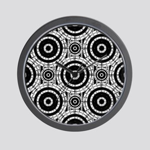 Geometric black and white Wall Clock