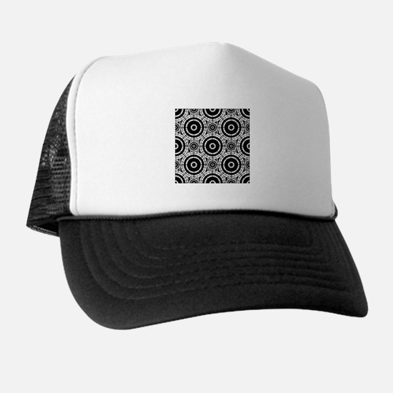 Geometric black and white Trucker Hat