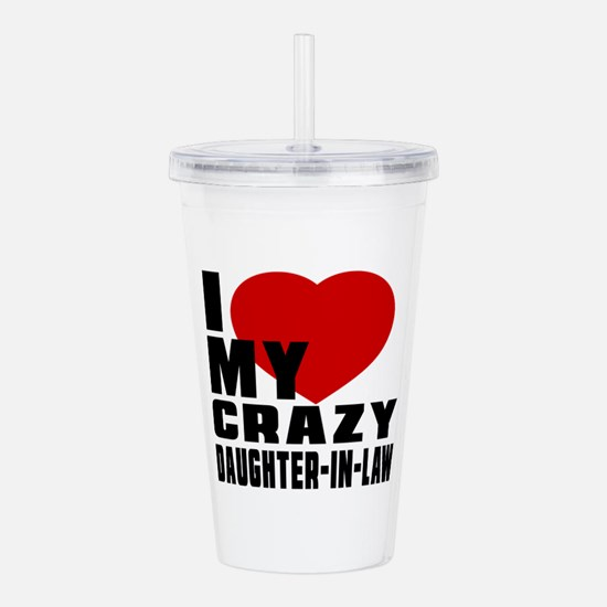 I Love Daughter In Law Acrylic Double-wall Tumbler