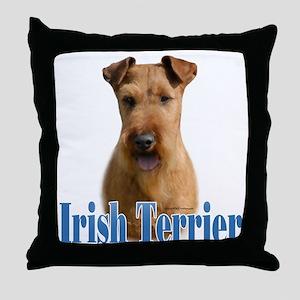 IrishTerrierName Throw Pillow