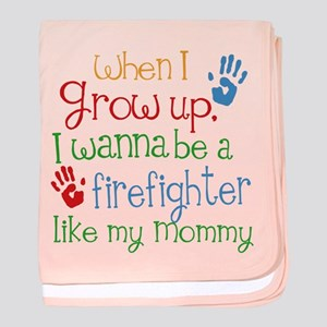 Firefighter Like Mommy baby blanket