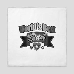 father's day world's best dad Queen Duvet