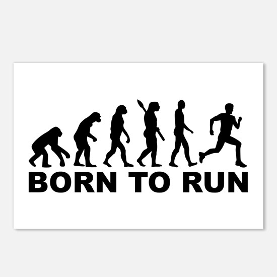 Evolution Born to run Postcards (Package of 8)