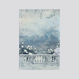 Winter Balcony View Rectangle Magnet