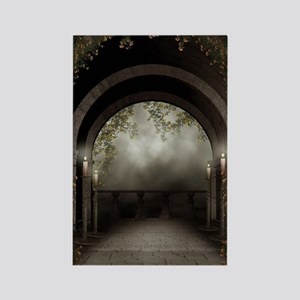 Gothic Arch Balcony Rectangle Magnet