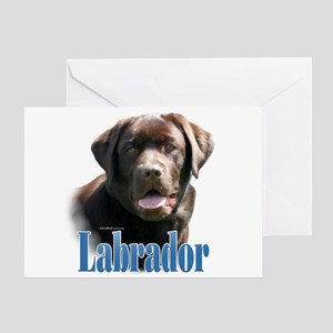 Lab(choco)Name Greeting Card