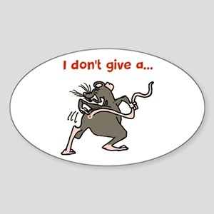 I don't give a rats... Sticker