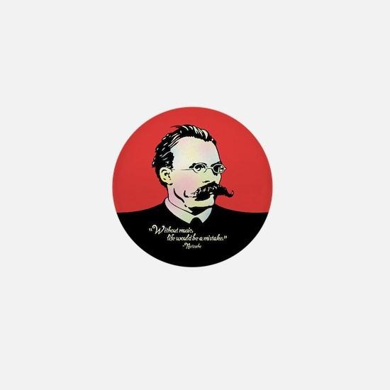 Nietzsche Music Mini Button