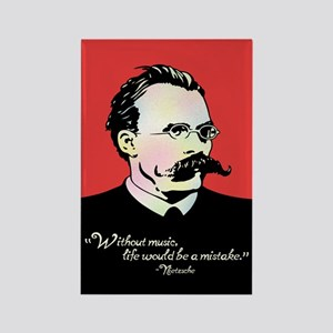 Nietzsche Music Rectangle Magnet