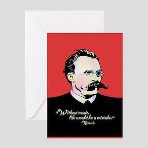 Nietzsche Music Greeting Card