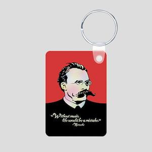 Nietzsche Music Aluminum Photo Keychain