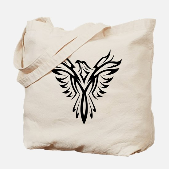 Tribal Phoenix Tattoo Bird Tote Bag