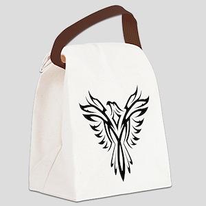 Tribal Phoenix Tattoo Bird Canvas Lunch Bag