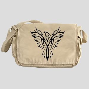 Tribal Phoenix Tattoo Bird Messenger Bag