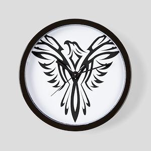 Tribal Phoenix Tattoo Bird Wall Clock