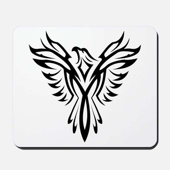 Tribal Phoenix Tattoo Bird Mousepad