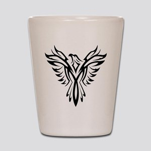Tribal Phoenix Tattoo Bird Shot Glass
