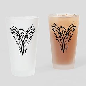 Tribal Phoenix Tattoo Bird Drinking Glass