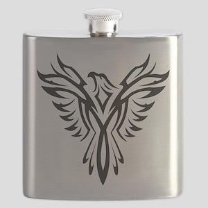 Tribal Phoenix Tattoo Bird Flask