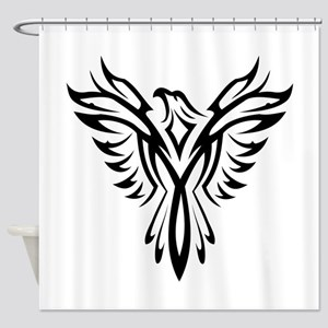 Tribal Phoenix Tattoo Bird Shower Curtain
