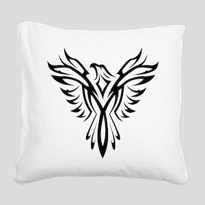 Tribal Phoenix Tattoo Bird Square Canvas Pillow