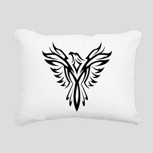 Tribal Phoenix Tattoo Bi Rectangular Canvas Pillow