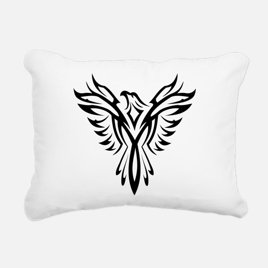 Tribal Phoenix Tattoo Bi Rectangular Canvas Pillow