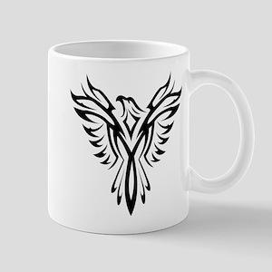 Tribal Phoenix Tattoo Bird Mugs