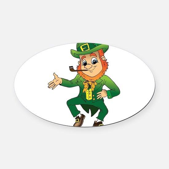 Leprechaun Oval Car Magnet