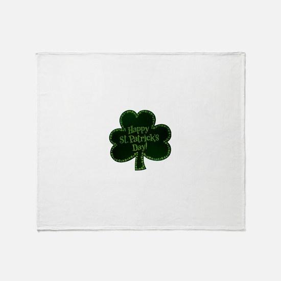 St. Patricks Day Throw Blanket