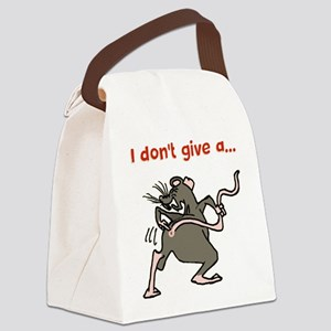 I don't give a rats... Canvas Lunch Bag