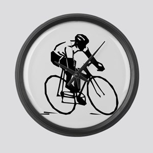 Cyclist Large Wall Clock