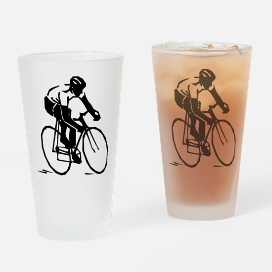 Cyclist Drinking Glass