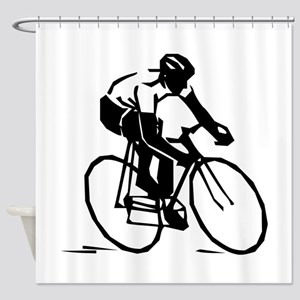 Cyclist Shower Curtain