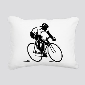 Cyclist Rectangular Canvas Pillow