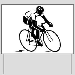 Cyclist Yard Sign