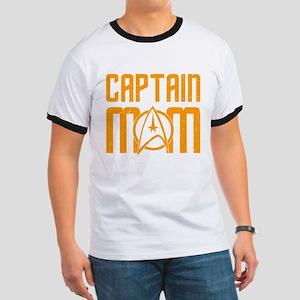 Captain Mom Ringer T-Shirt
