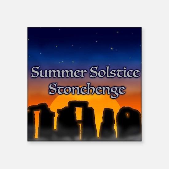 """Unique Summer solstice Square Sticker 3"""" x 3"""""""