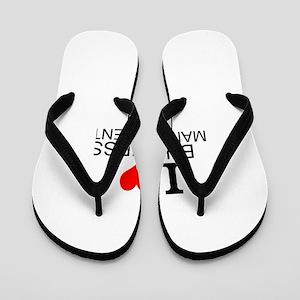 I Love Business Management Flip Flops