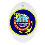 USS Caloosahatchee (AO 98) Oval Ornament
