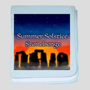 Summer Solstice Stonehenge baby blanket