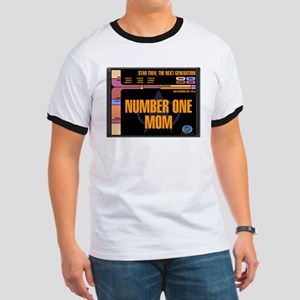 Number One Mom Ringer T-Shirt