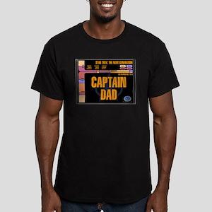 Captain Dad Men's Dark Fitted T-Shirt