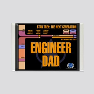 Engineer Dad Rectangle Magnet