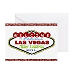 Las Vegas Merry Christmas Candy Canes Cards 10