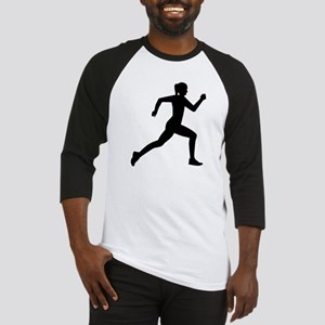 Running woman girl Baseball Jersey