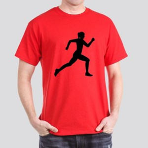 Running woman girl Dark T-Shirt