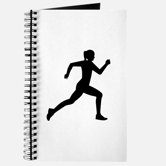 Running woman girl Journal