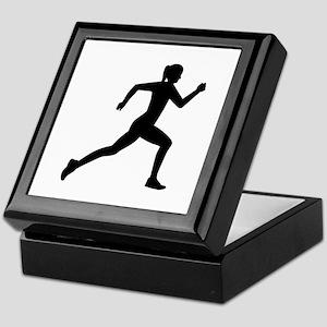 Running woman girl Keepsake Box