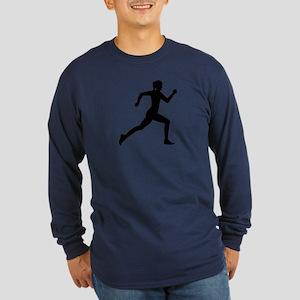 Running woman girl Long Sleeve Dark T-Shirt